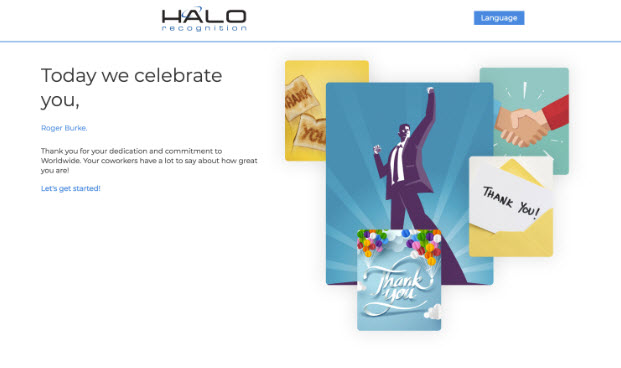 HALO Recognition Demo - Recognition+Wall+Welcome.jpg