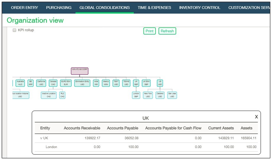 Sage Intacct Demo - Global Consolidations