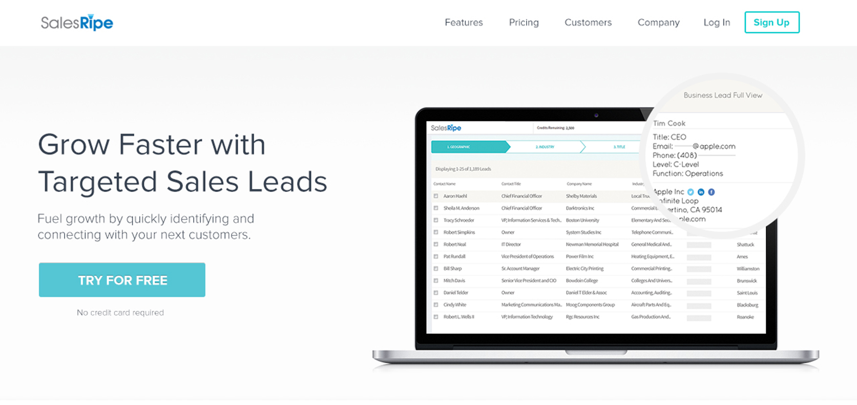 SalesRipe Demo - Grow Faster with Targeted Sales Leads