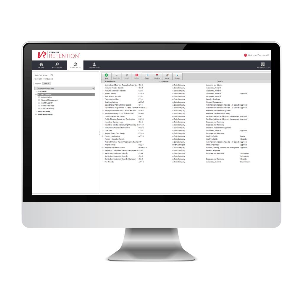 Zasio's Versatile Retention Demo - Zasio Versatile Retention Software-as-a-Service