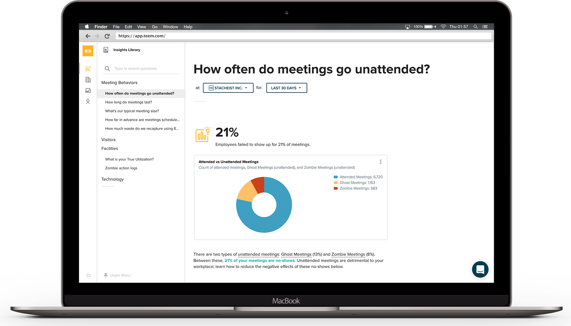 Teem Demo - Teem Workplace Insights [Unattended Meetings]