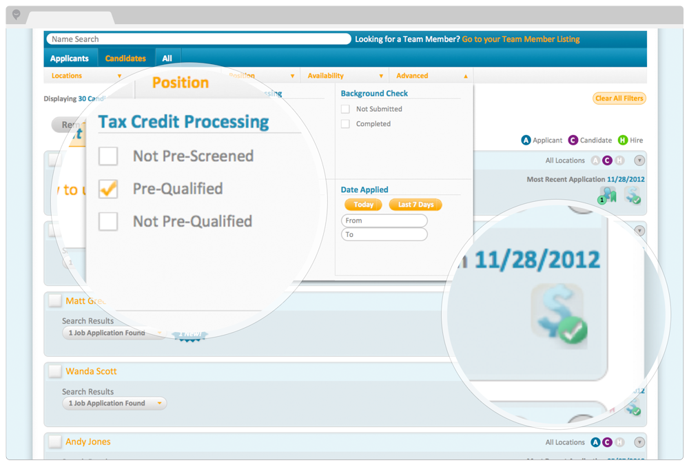 PeopleMatter Demo - Easy to Use Applicant Tracking with Built-In Tax Credits