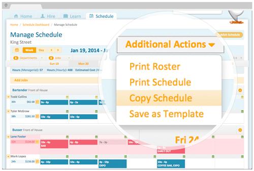 PeopleMatter Demo - Managing Schedules