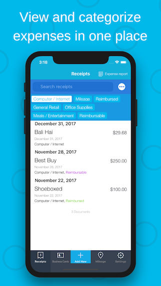 Shoeboxed Demo - View and manage your expenses in one place