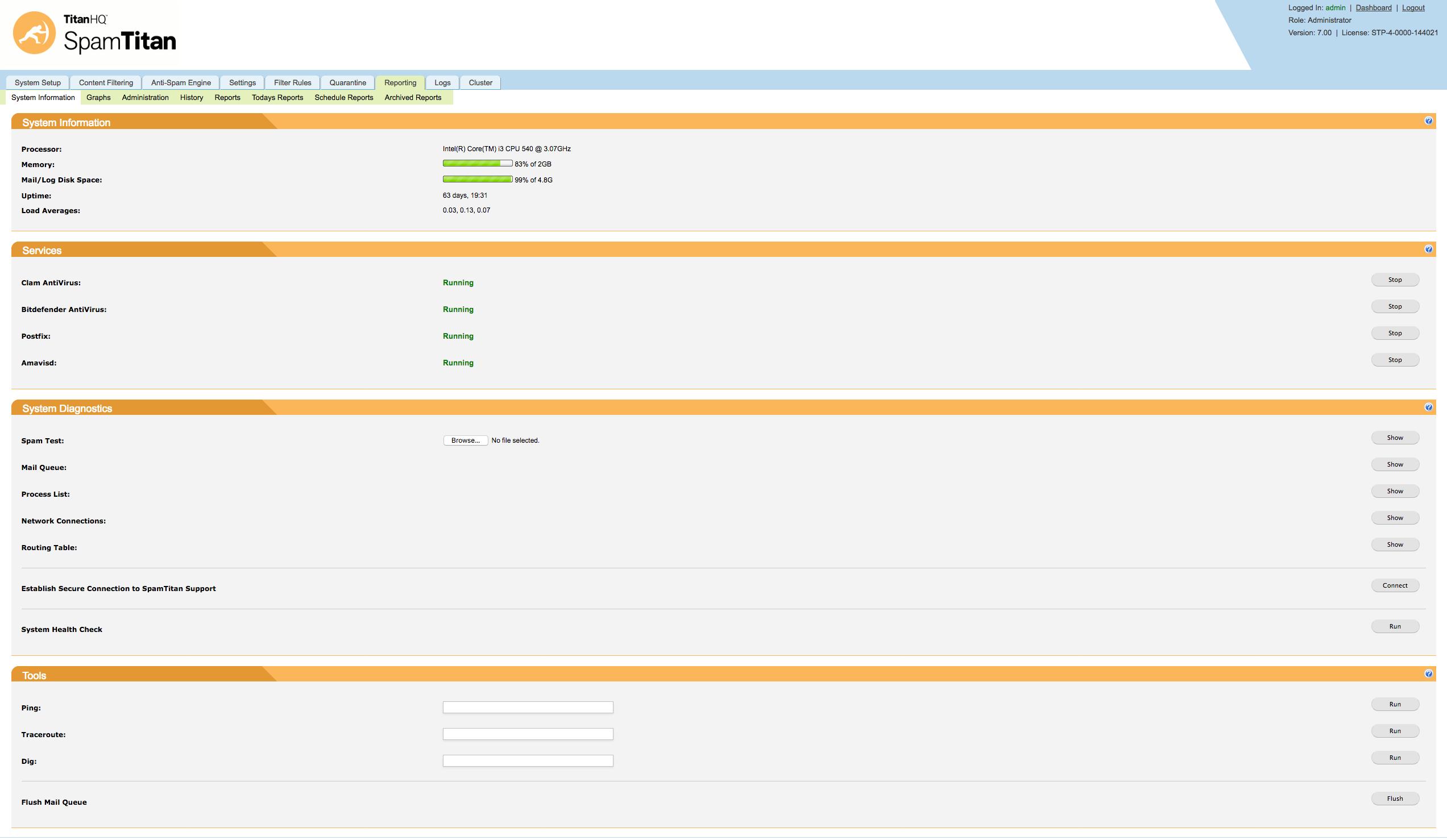 SpamTitan Demo - ST2-ReportingPage.png