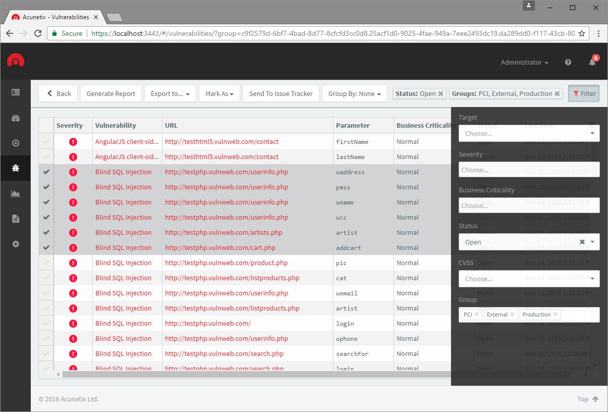 Acunetix Vulnerability Scanner Demo - Vulnerability Detection