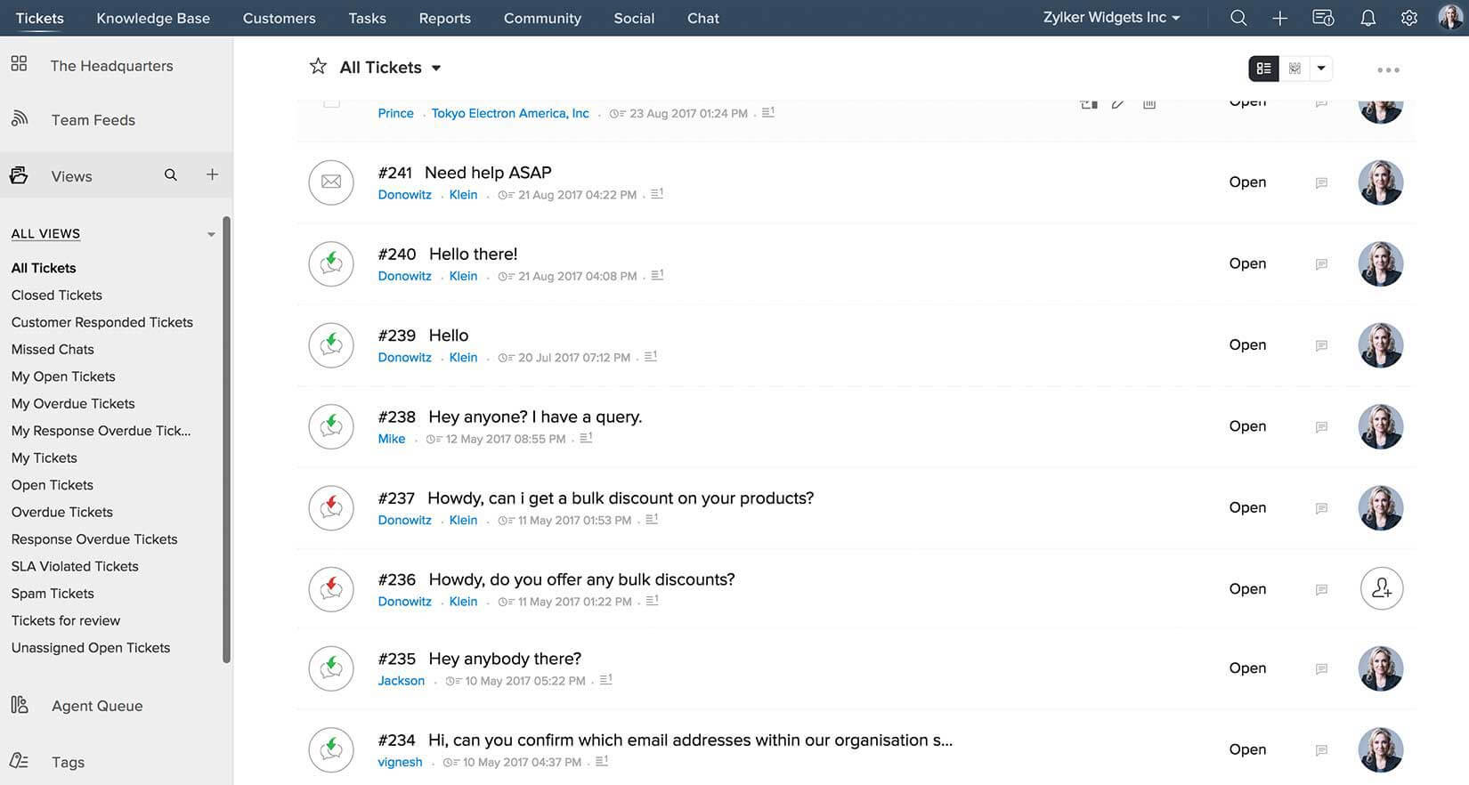 Zoho CRM Plus Demo - Customer centric Help Desk in Zoho CRM Plus.jpg