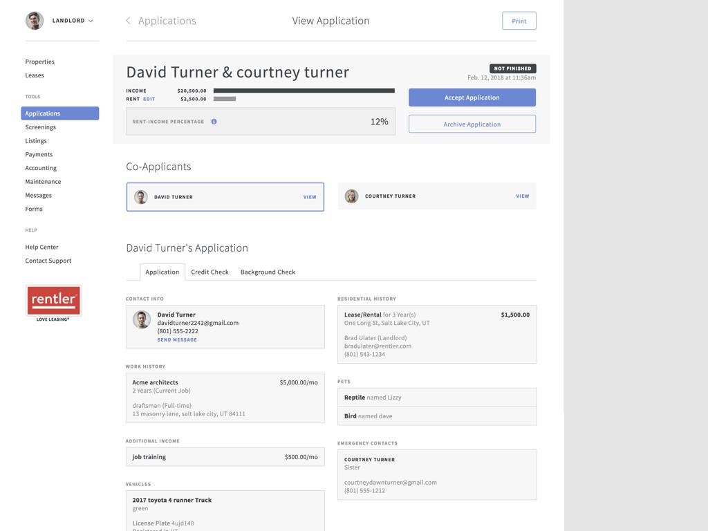 Rentler.com Demo - Receive tenant applications with Rentler
