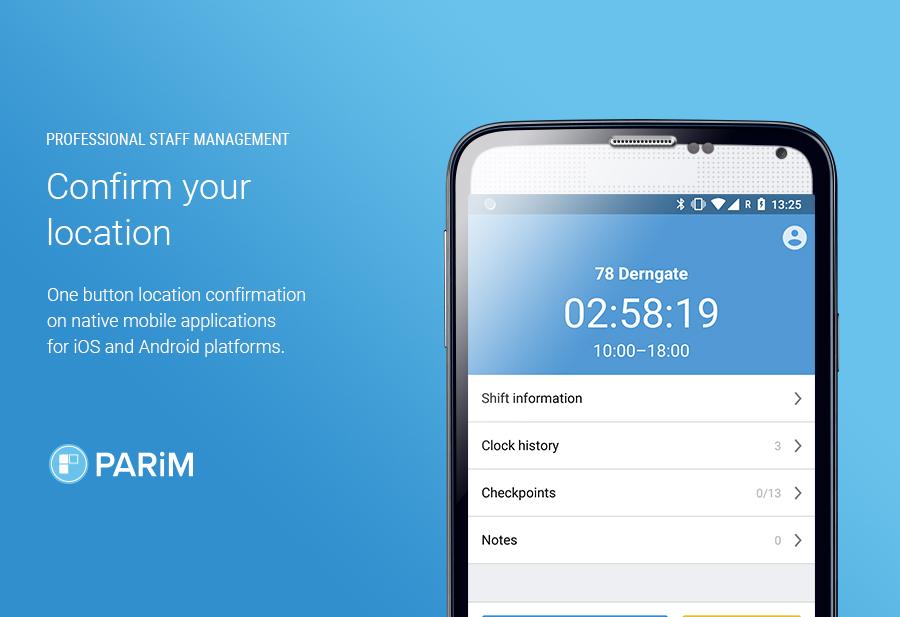 PARiM Demo - Confirm your location via mobile apps; SMS messaging; voice calls or via cloud apps