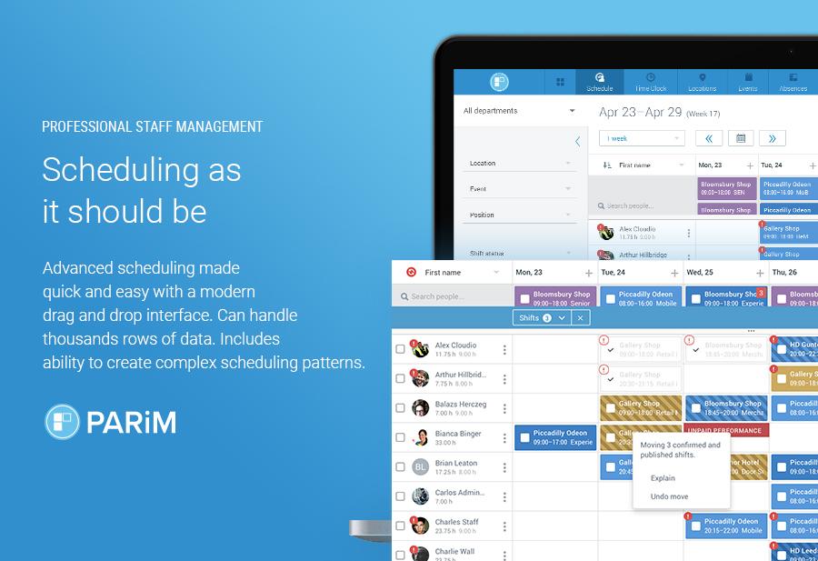PARiM Demo - Scheduling for Professionals