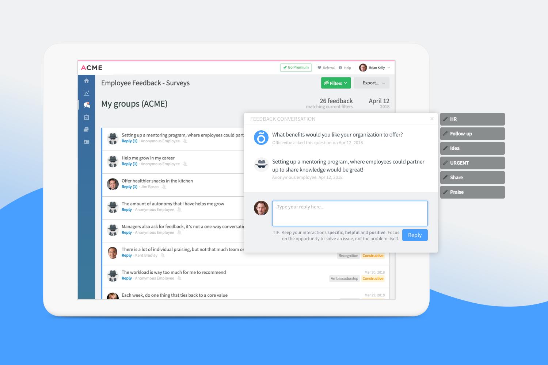 Officevibe Demo - Conversations