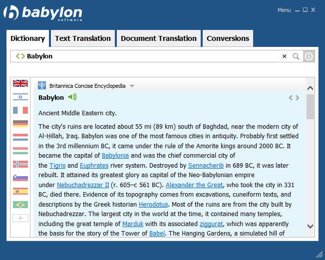 Babylon Demo - Term translation