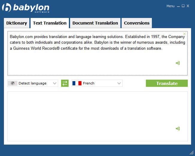 Babylon Demo - Full text translation - Premium feature