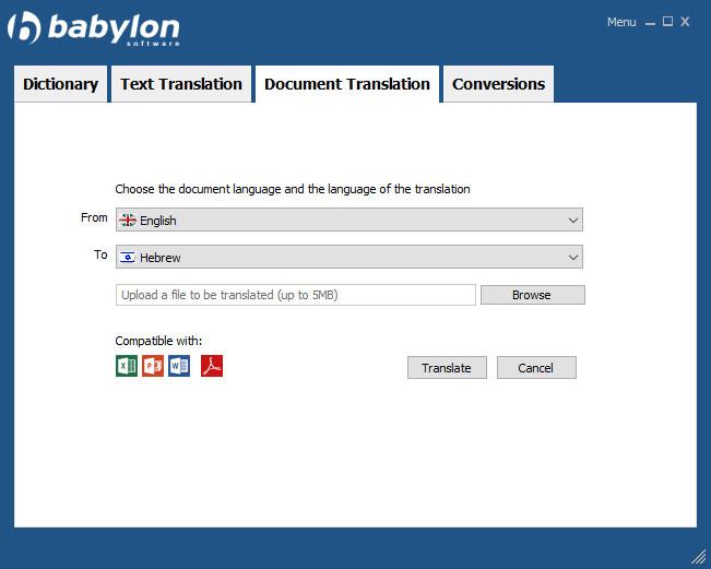 Babylon Demo - Formatted Document translation - Premium feature