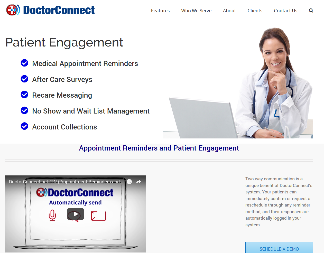DoctorConnect Demo - DoctorConnect HomePage
