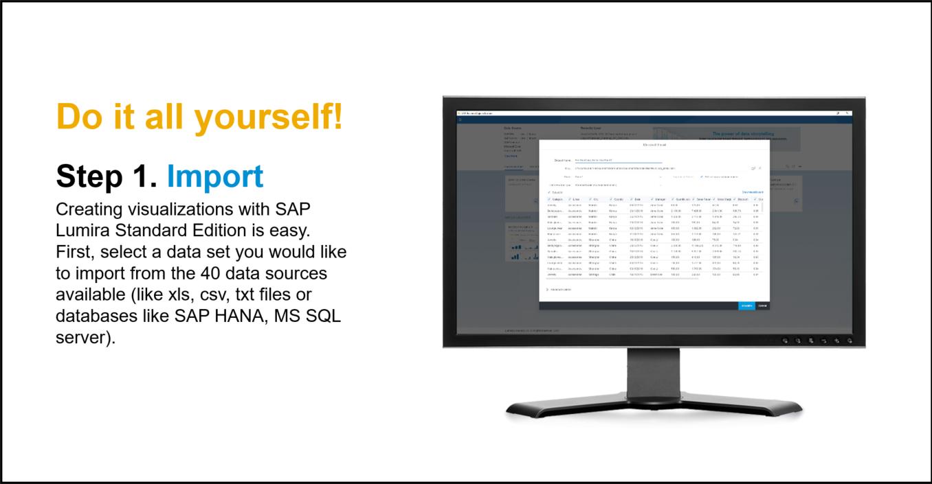 SAP Lumira Demo - Step 1. Import