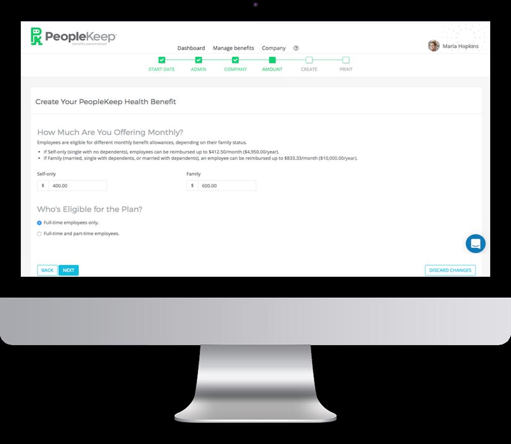 PeopleKeep Demo - Launch your benefits program