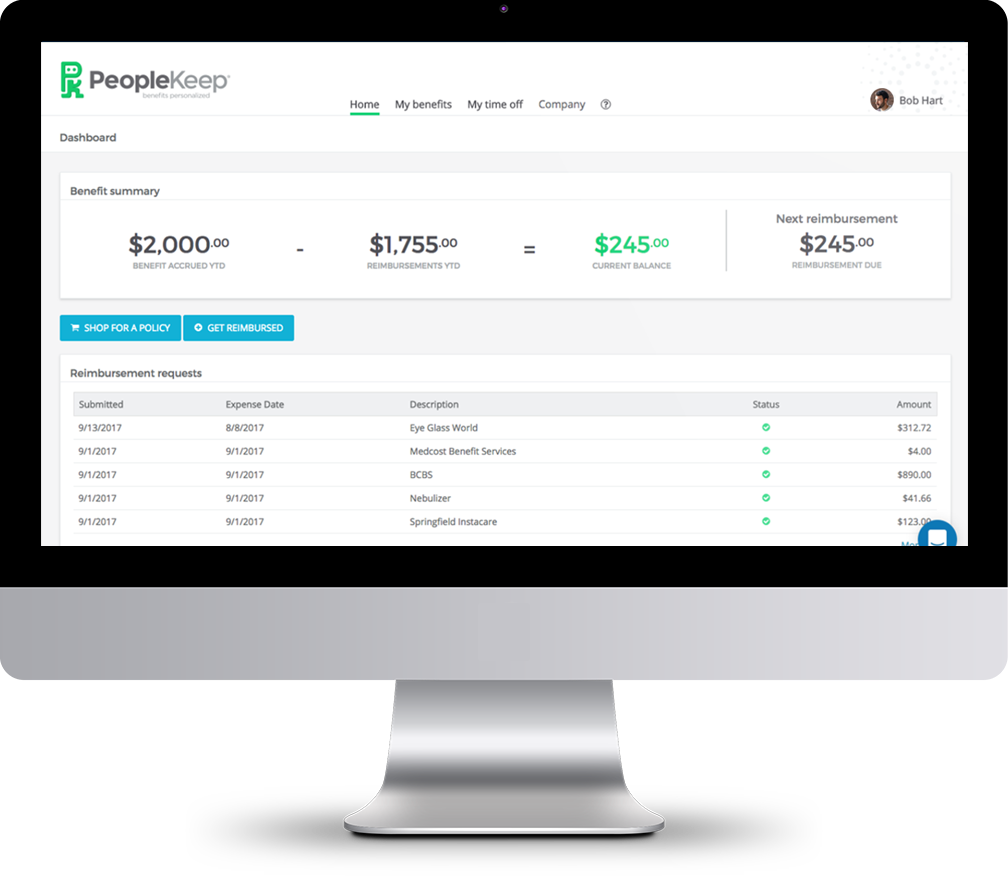 PeopleKeep Demo - Employees buy what fits their personal needs