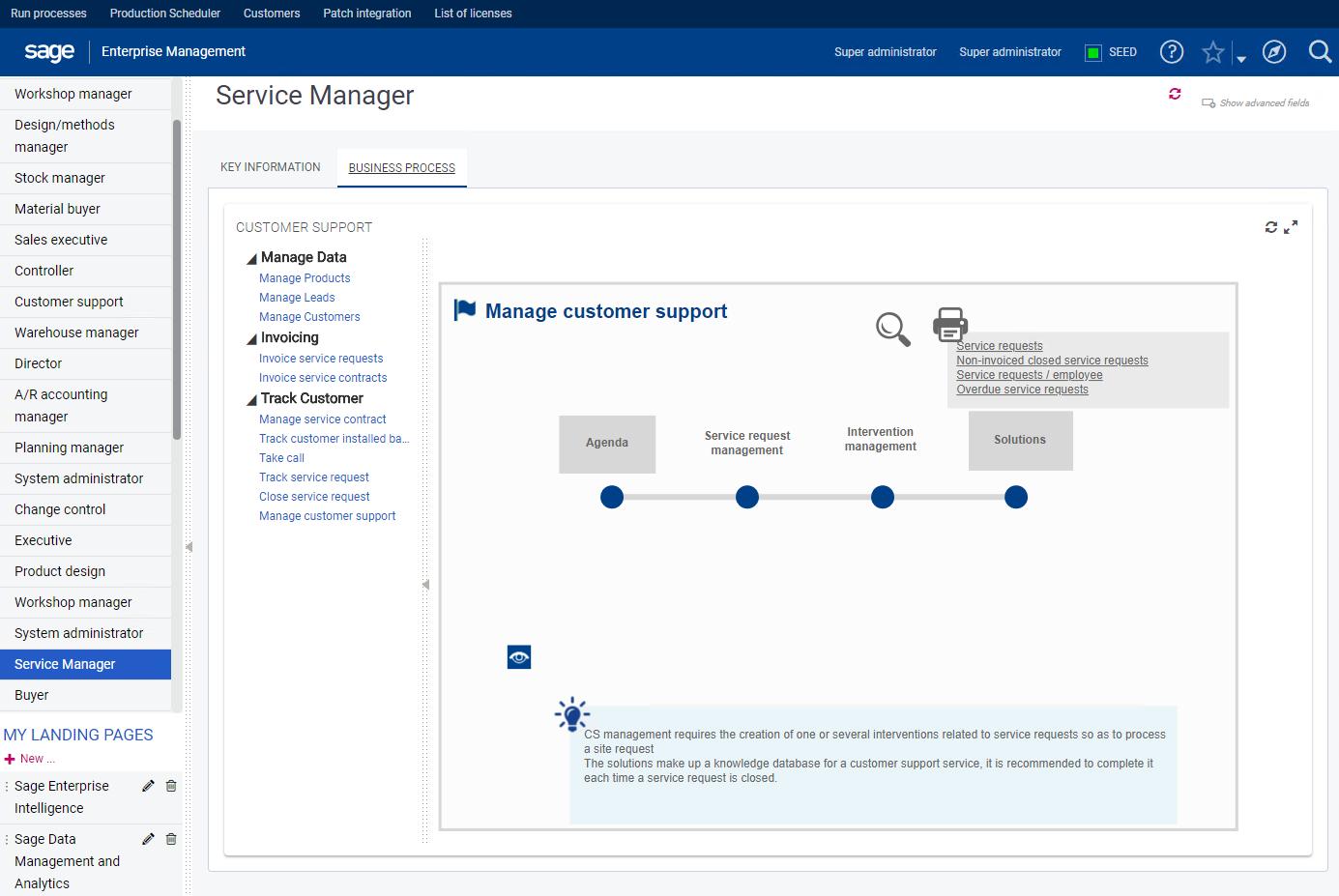 Sage Business Cloud Enterprise Management Demo - Service Management