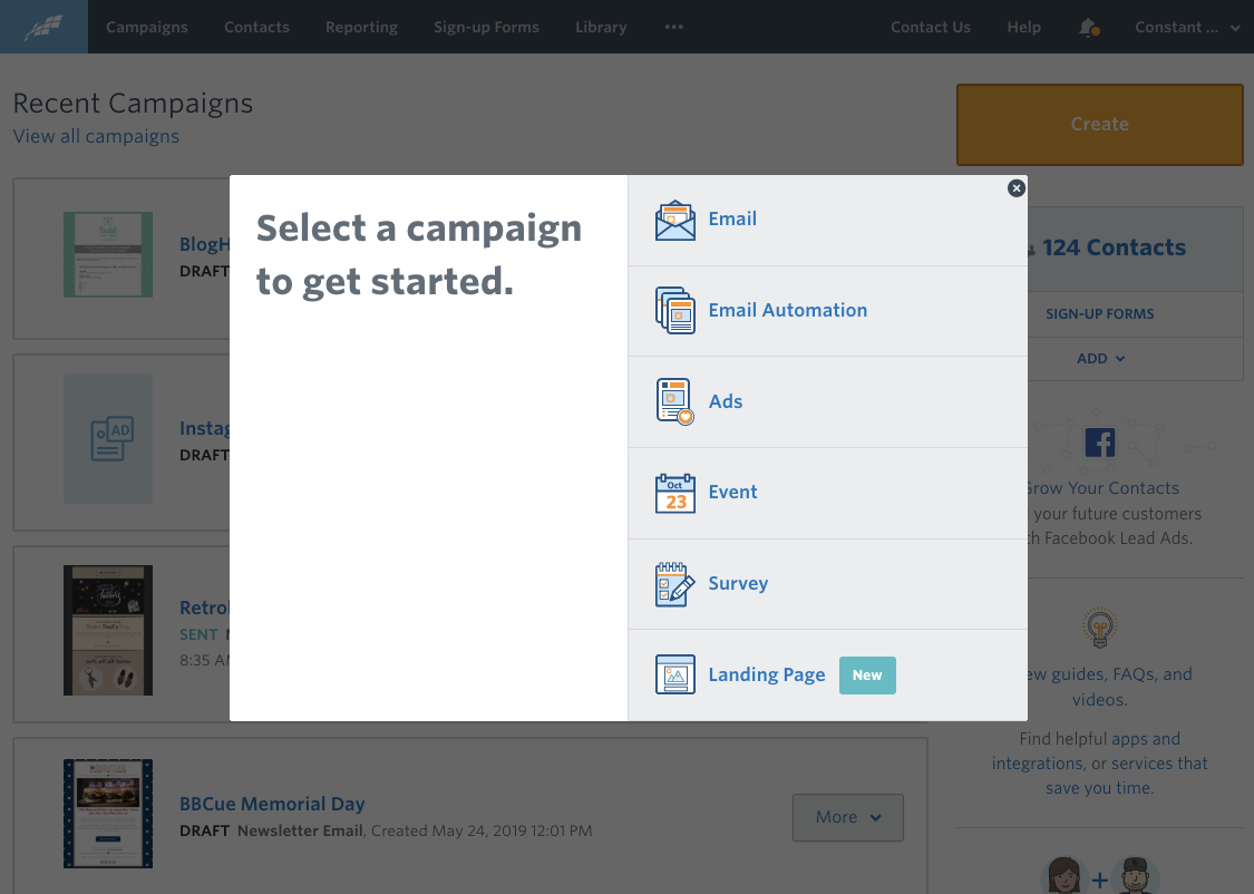 Product image of Constant Contact marketing tools