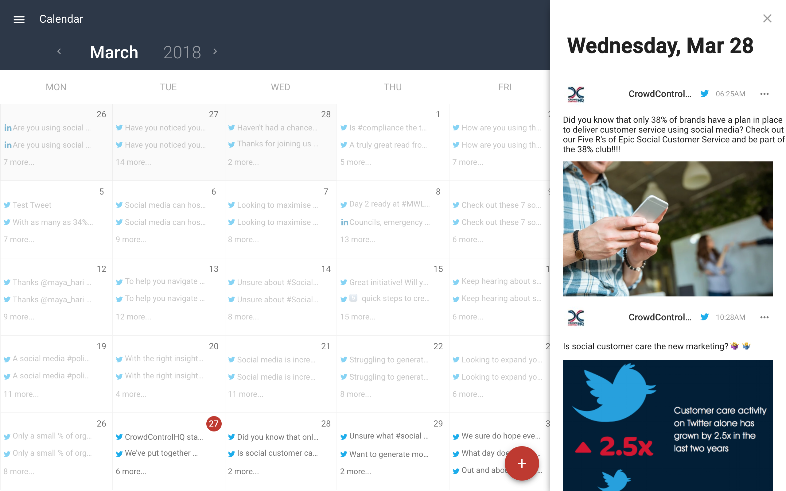 CrowdControlHQ Demo - Social Media Scheduling