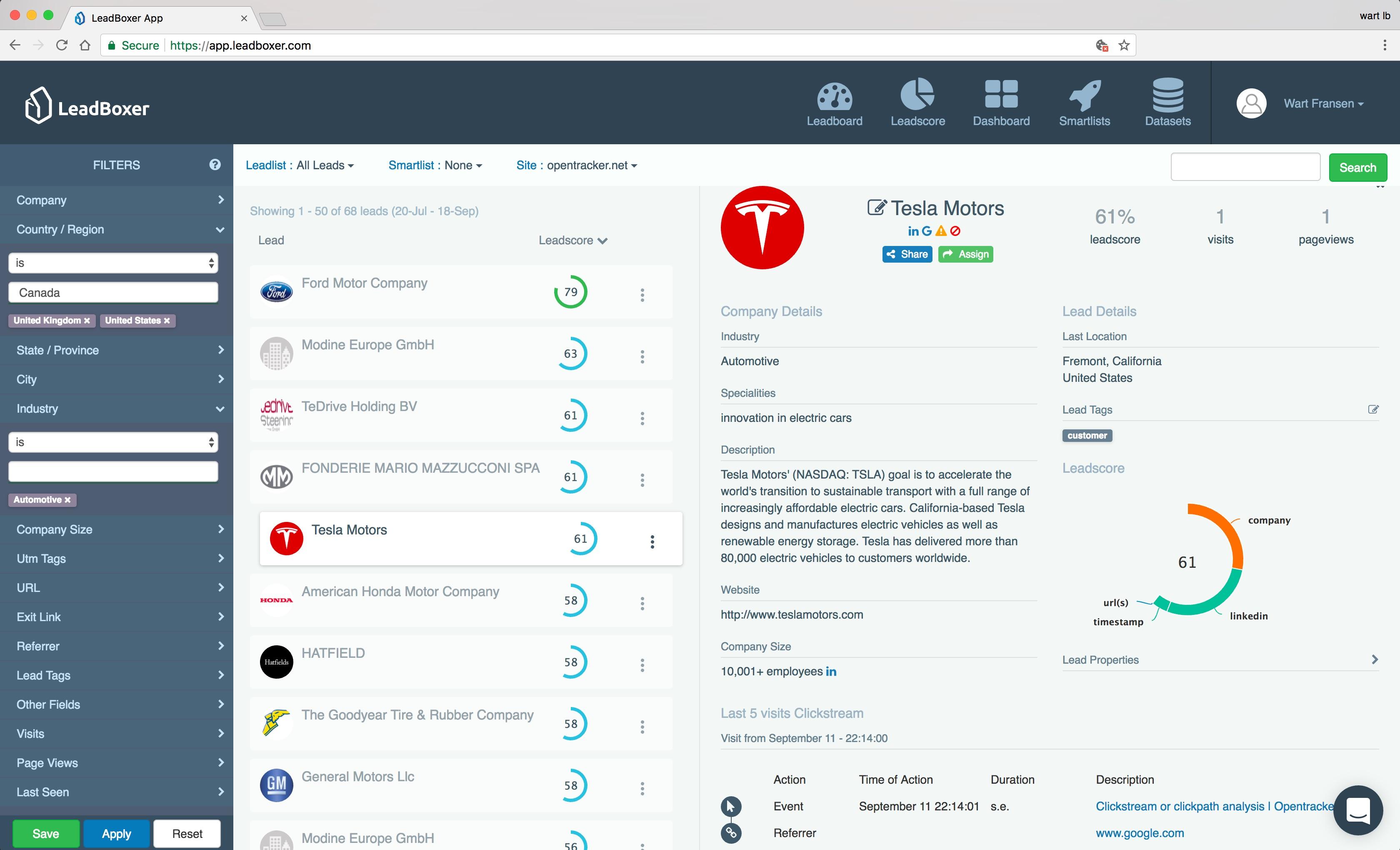 LeadBoxer Demo - LeadBoxer App