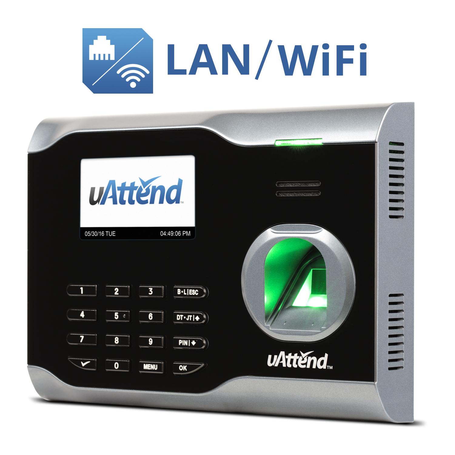 uAttend Demo - uAttend Biometric Fingerprint WiFi Time Clock