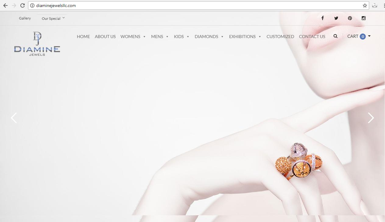 Website Design Demo - Diamine Jewels llc Best Design ever in Jewellery