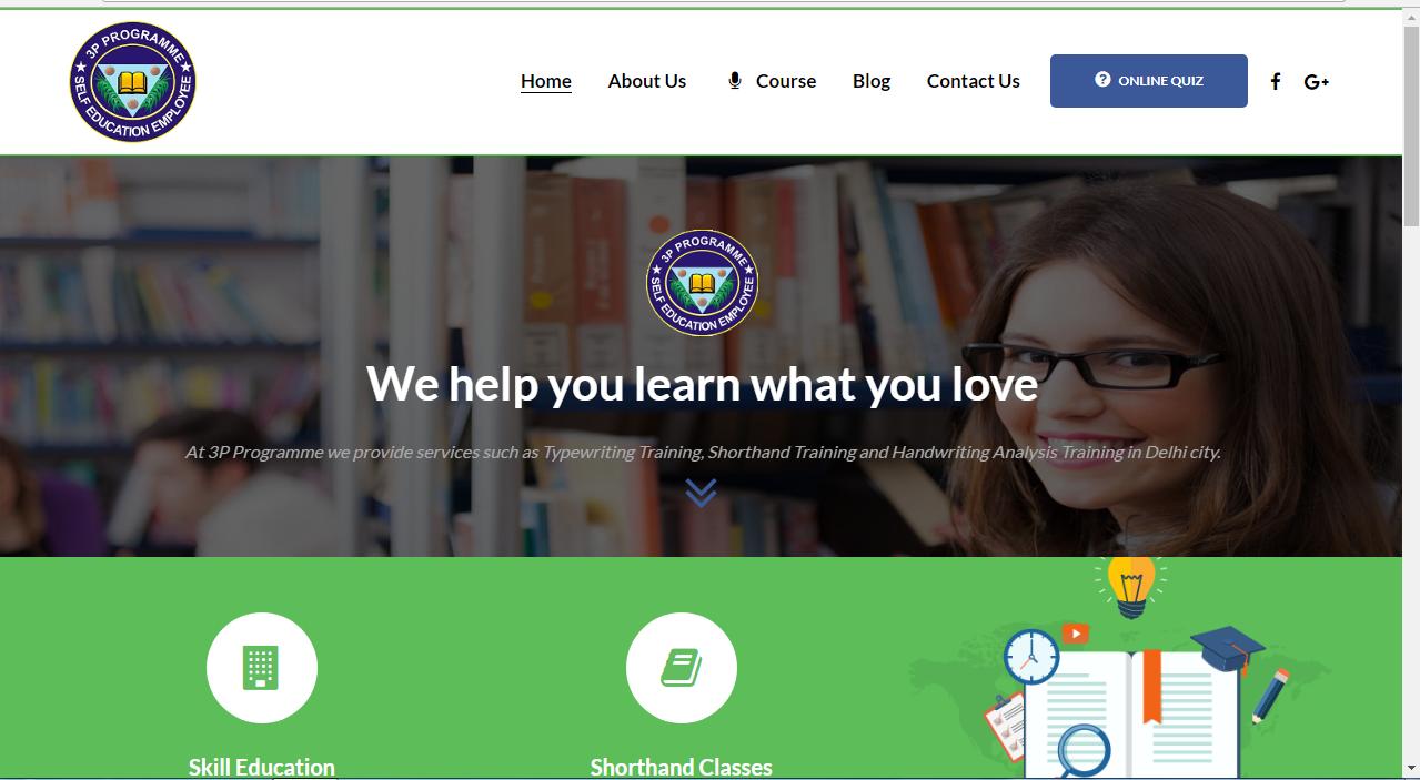 Website Design Demo - SSC Quiz Online Development With Website