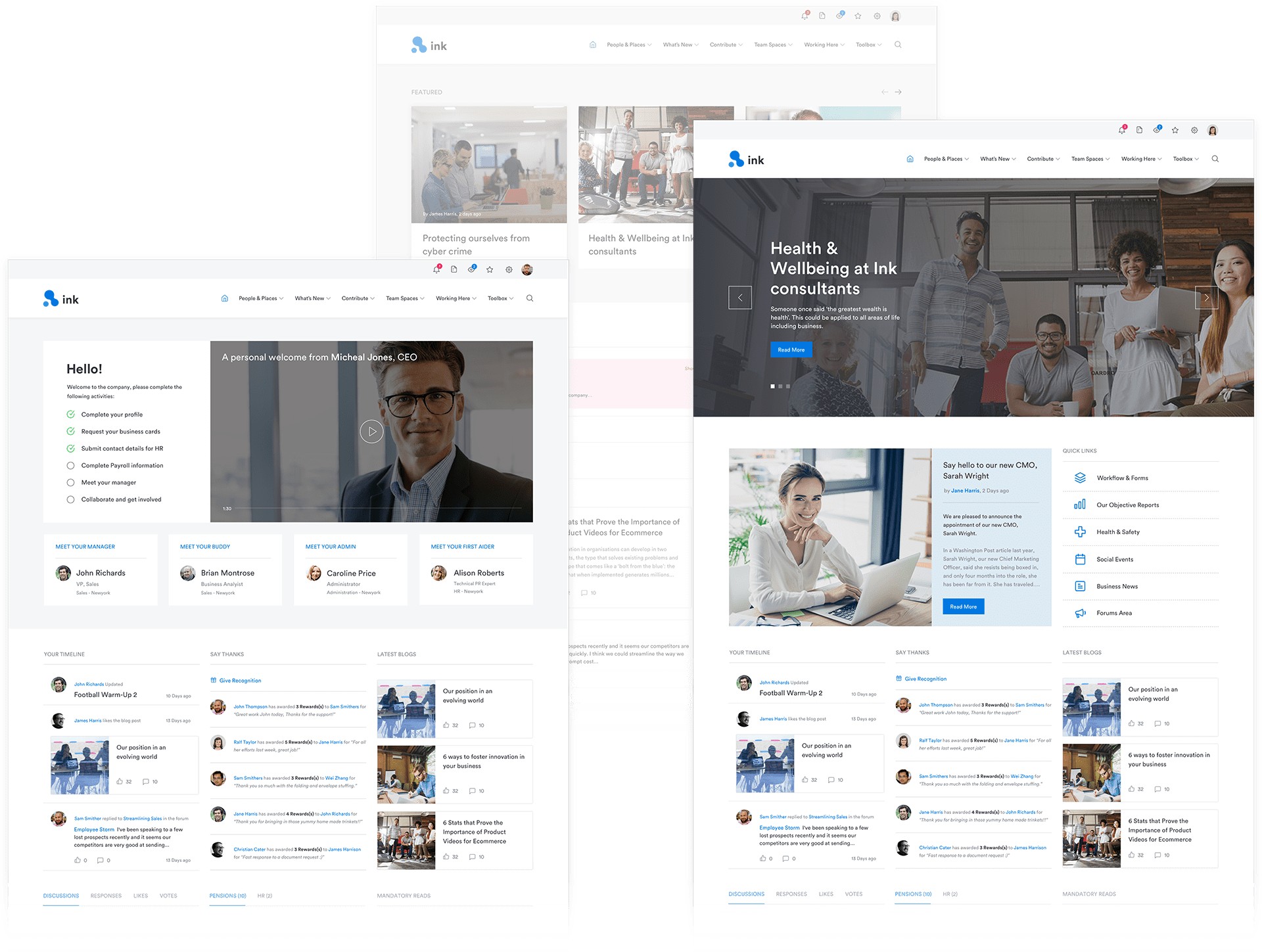 Interact Demo - Homepages