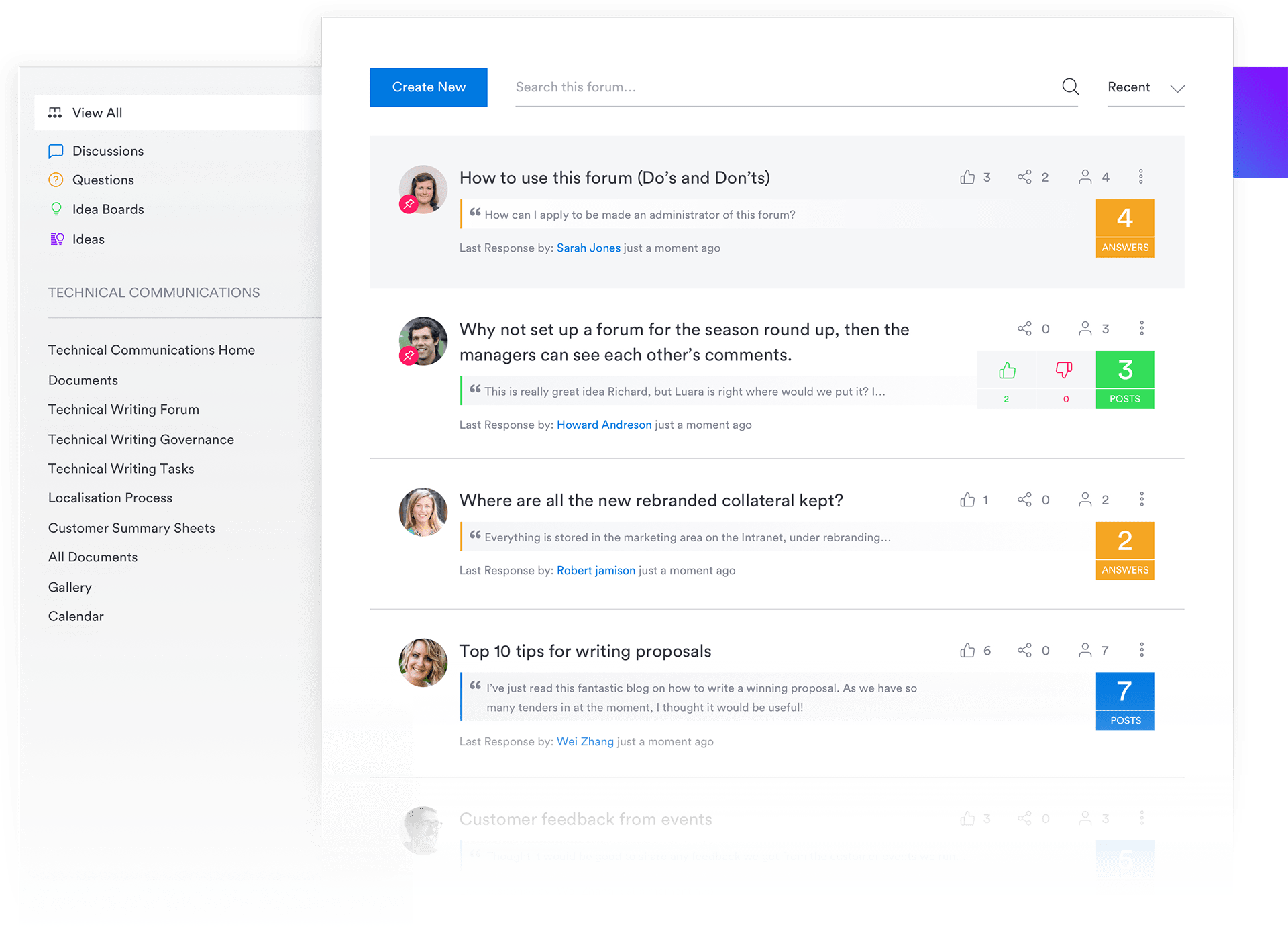 Interact Demo - Forums