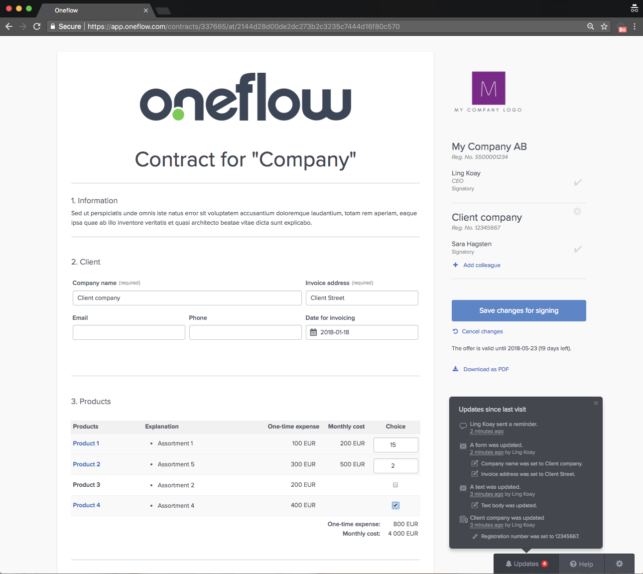Oneflow Demo - Oneflow lives in your web browser