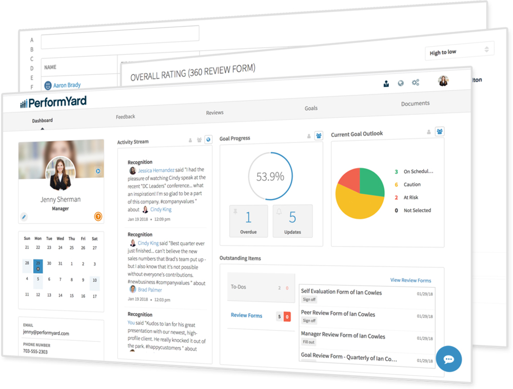 PerformYard Demo - Employee Dashboards
