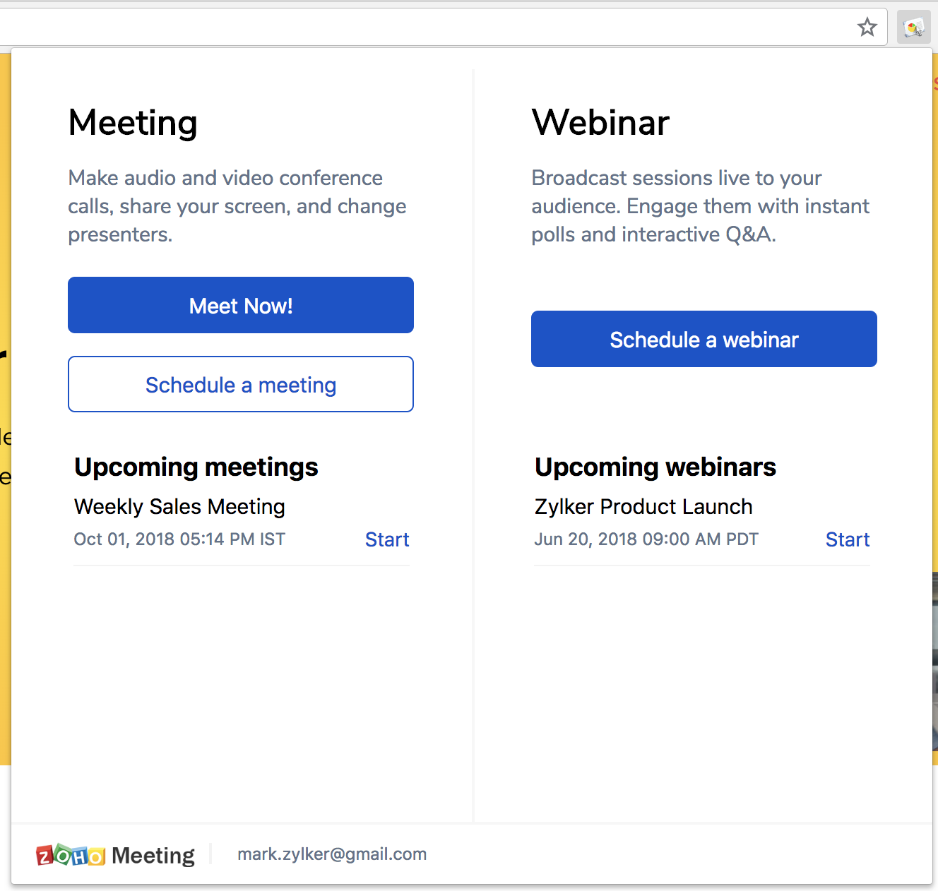 Zoho Meeting Demo - GoogleChrome-Extension.png
