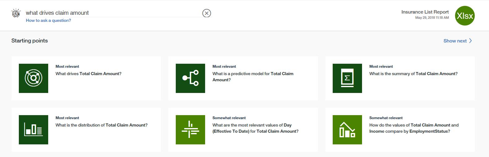 IBM Watson Analytics Demo - Ask a Question