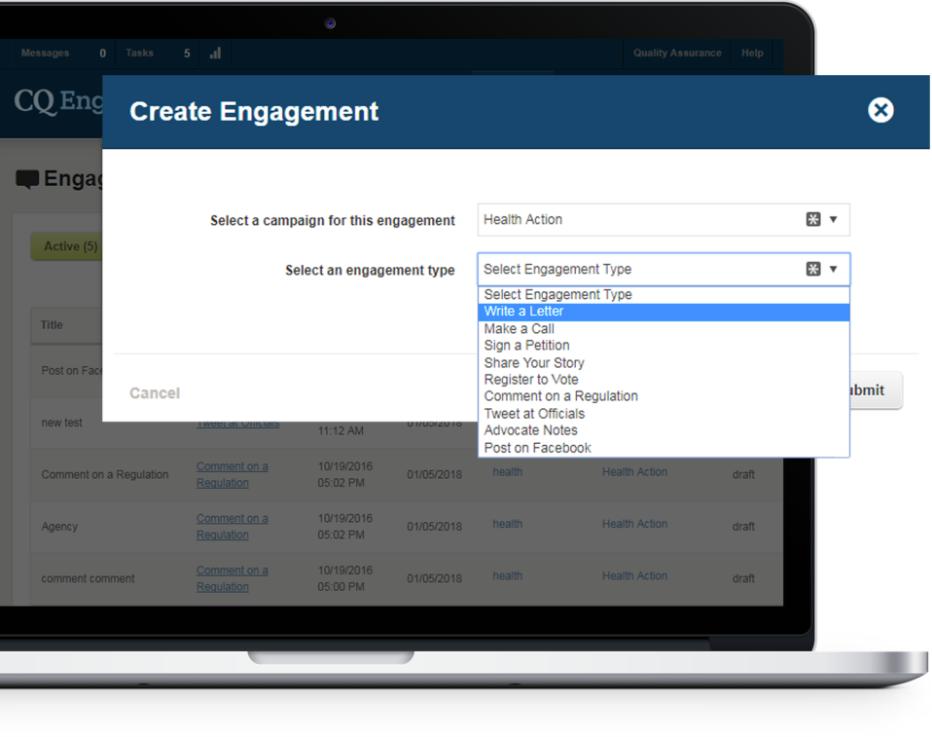 CQ Engage Demo - CQ Engage Product Screenshot
