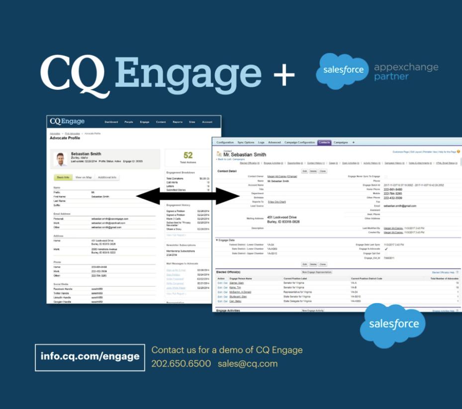 CQ Engage Demo - CQ Engage Integration Screenshot