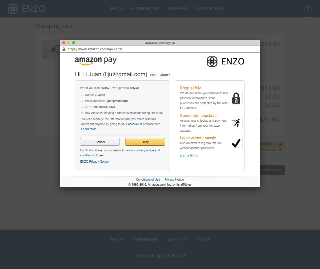 Amazon Pay Demo - #4 - Consent