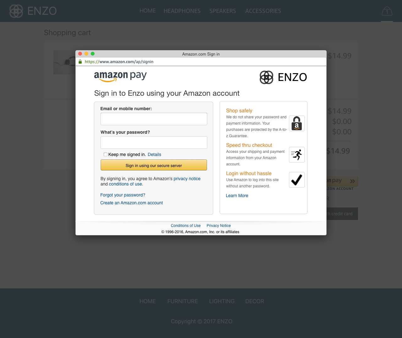 Amazon Pay Demo - #3 - Sign-In