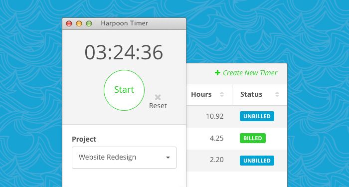 Harpoon Demo - Time Tracking