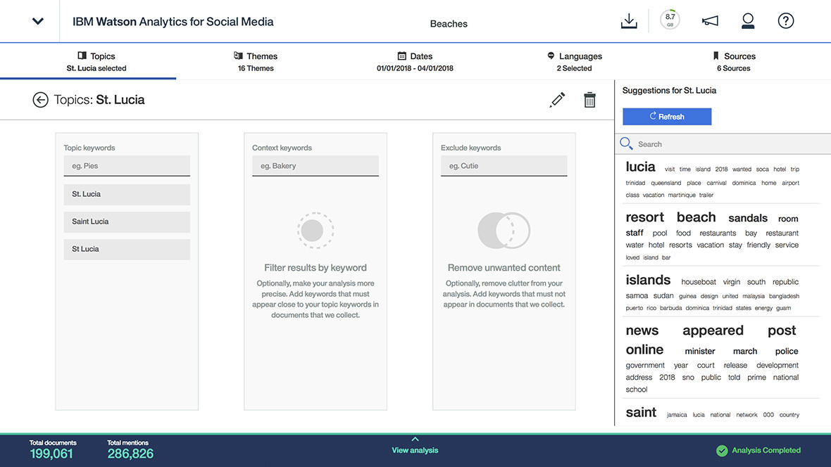 Watson Analytics for Social Media Demo - Guided Topic Creation