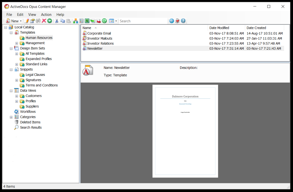 ActiveDocs Demo - ActiveDocs Opus Content Manager