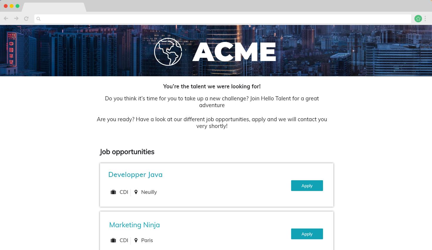 Hello Talent Demo - Career Site
