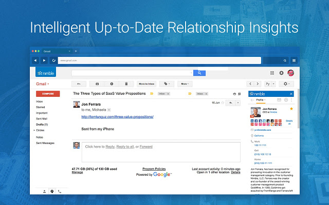 Nimble Demo - Relationship Insights Inside Gmail and Office 365