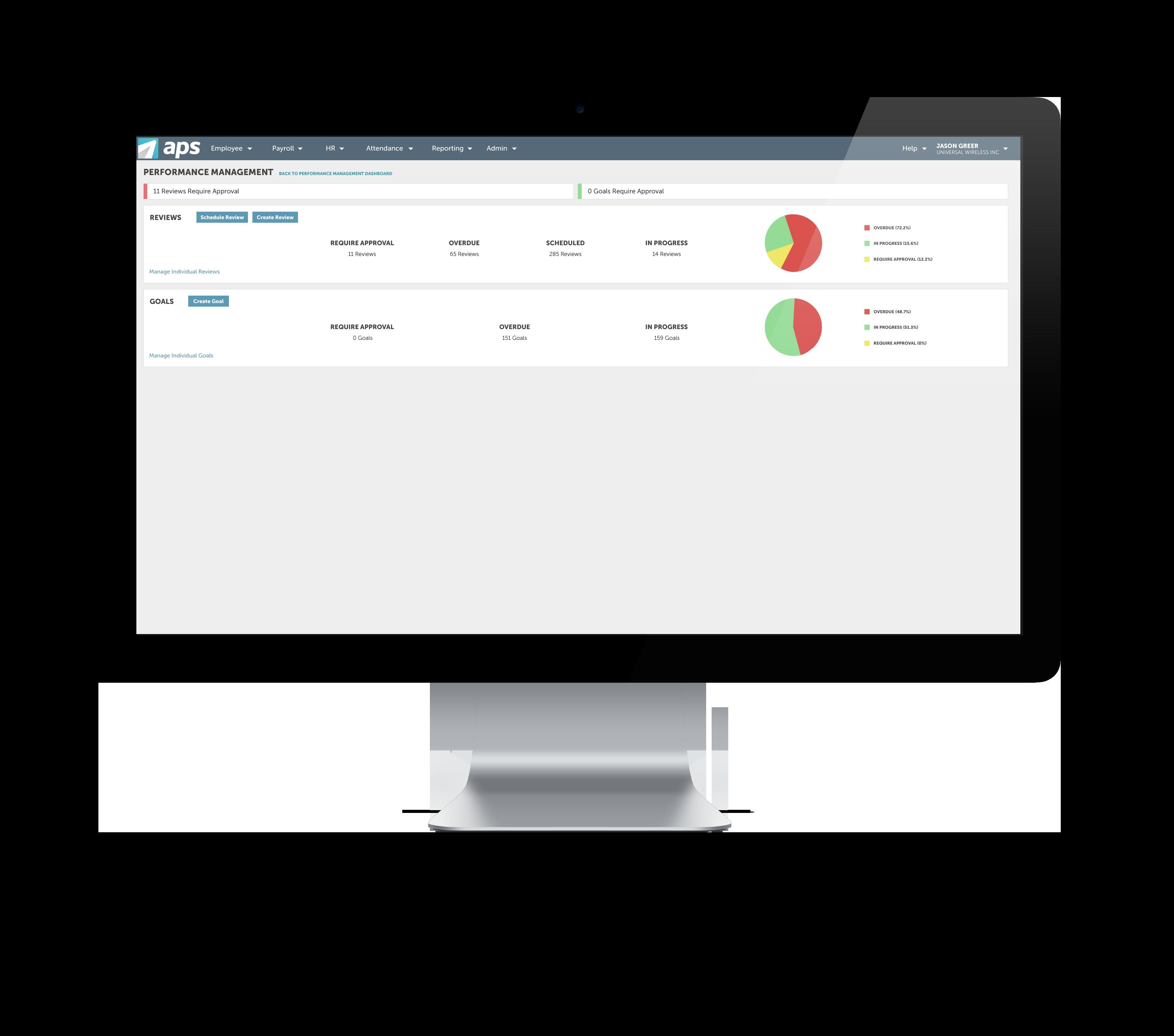 APS Core HR Solution Demo - Performance Management Dashboard