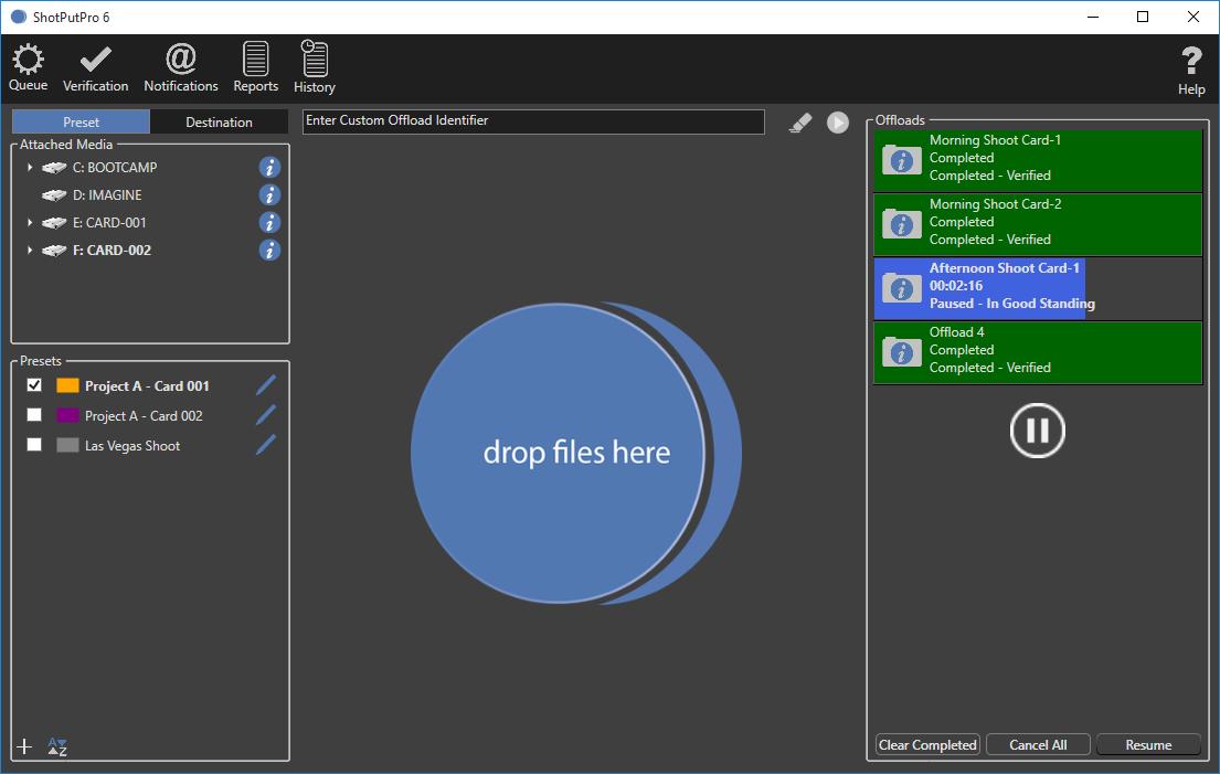 ShotPut Pro Demo - ShotPut Pro Windows