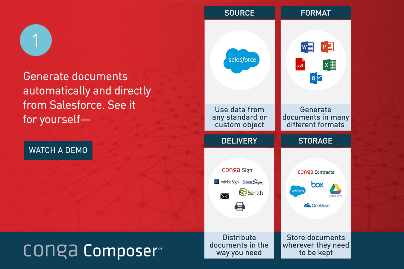 Conga Document Generation Demo - Generate Documents Automatically