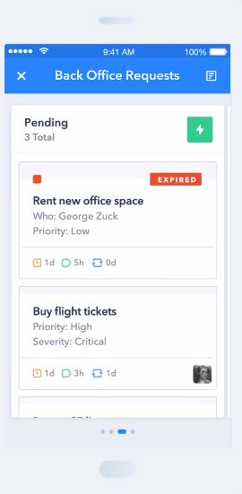 Pipefy Demo - Mobile platform