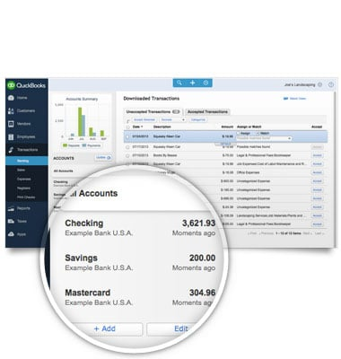 QuickBooks Online Demo - Automatically download and categorize your bank transactions