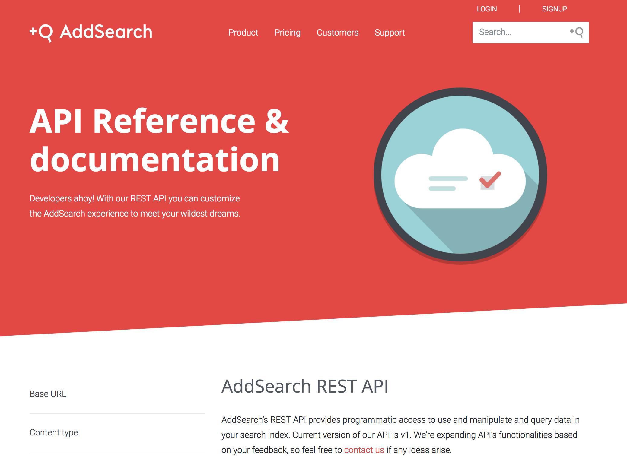 AddSearch Demo - API